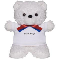 #breakaleg #theatre #theater #gift  OMG Cute Break A Leg bear!!!!! :D