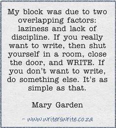 Writers quote. Awesome.