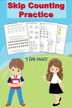 FREE Skip Counting Worksheets! Great for Kindergarten, first grade, and second grade.