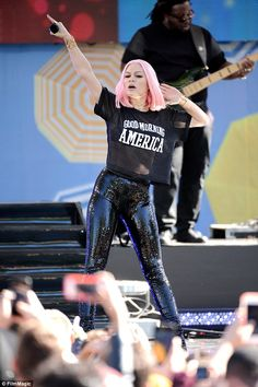 Shining bright: Jessie J was full of energy as she put on a show-stopping performance on A...