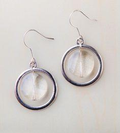Crystal & Hoop Earrings