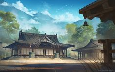 Deep Yet Majestic Chinese Landscape Painting Ideas Chinese-Landscape-Painting-IdeasChinese-Landscape-Painting-Ideas Landscape Concept, Fantasy Landscape, Landscape Art, Landscape Paintings, Forest Landscape, Games Design, Graphisches Design, Asian Landscape, Chinese Landscape Painting