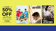 Book Your #MovieTicketsOnline  Get 50% off On Every #MovieTickets