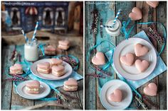 Srdíčkové makronky Learn To Cook, Macarons, Food Inspiration, New Recipes, Table Decorations, Cooking, Blog, Home Decor, Drink