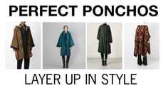 """PERFECT PONCHOS"" by rain-wave on Polyvore featuring raincoat, outwear and rainponcho"