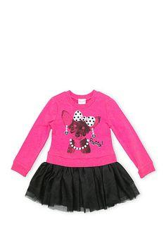 Nannette Puppy Sweatshirt Dress Girls 4-6x