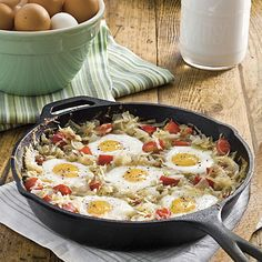 Cast Iron Skillet Recipe: Sunny SKillet Breakfast --- perfect for mike bday or Father's Day breakfast