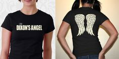 The Walking Dead Two Sided Daryl Dixon Shirt https://www.etsy.com/listing/165701850/the-walking-dead-daryl-dixon-angel-wings