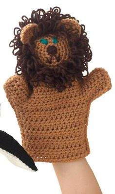 Crochet Lion Puppet