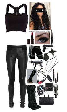 S.H.I.E.L.D. agent #6 by emma-directioner-r5er on Polyvore featuring River Island, Helmut Lang, Marc by Marc Jacobs, Laura Mercier, H.R., POLICE, Spy Optic, women's clothing, women's fashion and women