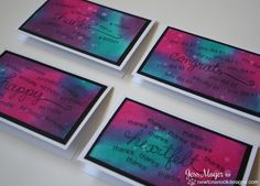 card set with Distress inks by Jess Moyer for Newton's Nook Designs | Simply Sentimental Stamp Set