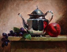 Silver With Apple and Grapes