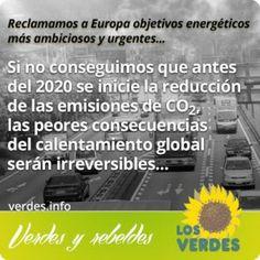 Los Verdes reclaman a Europa objetivos energéticos más ambiciosos y urgentes ante la evidencia del cambio climático