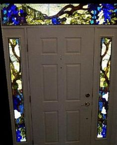 wisteria entryway stained glass