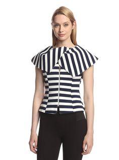 Gracia Women's Stripe Scuba Collar Top, http://www.myhabit.com/redirect/ref=qd_sw_dp_pi_li?url=http%3A%2F%2Fwww.myhabit.com%2Fdp%2FB00V9XAZSE%3F