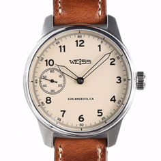 Weiss Special Issue Field Watch Latte Dial