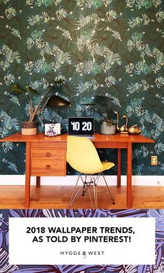 Of Wallpaper, Designer Wallpaper, 2018 Interior Design Trends, Trends 2018, Table, Inspiration, Furniture, Wallpapers, Home Decor
