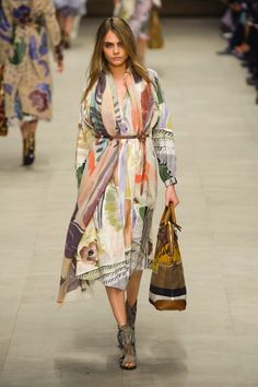 Cara Delevingne walking the Burberry Prorsum Fall 2014 show