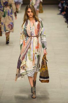 Cara Delevingne walking the Burberry Prorsum Fall 2014 show