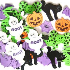 Rainbow Creations Halloween Foam Stickers, can be turned into cookies