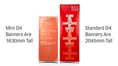 Use mini banner stands where standard banner stands are to big. Two small banner stands available, both tall. Add leaflet holders to one model. Signage Display, Display Banners, Corporate Interiors, Banner Stands, Big, Model, Scale Model, Models