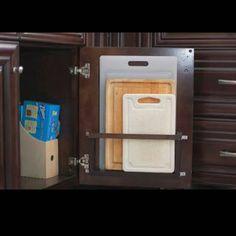 Хранение разделочных досок на кухне #орагизацияихранение (Фото из интернета. автор не известен )