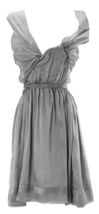 Vivienne Westwood sheer gray asymmetrical party dress, gorgeous!