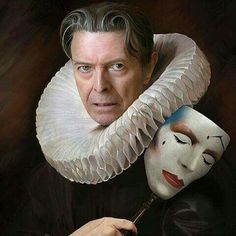 An Elizabethan David Bowie, with Scary Monsters/Ashes to Ashes Mask Angela Bowie, Martin Schoeller, Kitsch, Duncan Jones, David Bowie Starman, The Thin White Duke, Major Tom, Scary Monsters, Idole