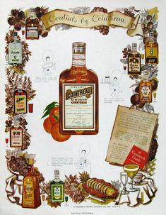 1951 Cointreau Liqueurs ad from #RetroReveries