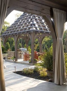 Outdoor Curtains Design Ideas, Pictures, Remodel, and Decor - page 2