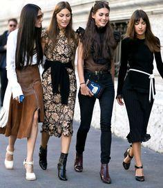 Milan Street Style Fall 2015 - Fashion Week #SquadGoals