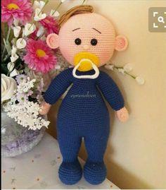 Amigurumi Baby Pacifier Making 10 - örgü calismalari - Lol dolls Crochet Dolls Free Patterns, Baby Knitting Patterns, Amigurumi Patterns, Doll Patterns, Crochet Toys, Pattern Cute, Crochet Fairy, Amigurumi Tutorial, Lol Dolls