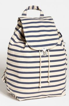 Baggu® Canvas Backpack available at #Nordstrom stripes back pack!! Summer must have :)