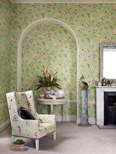 Chair: Pavilion 222075 Sanderson floral wallpaper