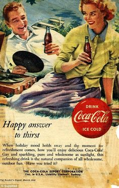 Happy answer to thirst - Coca-Cola