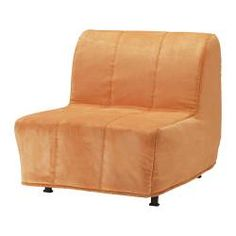 LYCKSELE HÅVET Chair bed - Henån orange - IKEA-- hmmm, this comes in many colors and folds out to a single bed.  This could be a great addition to the bedrooms.