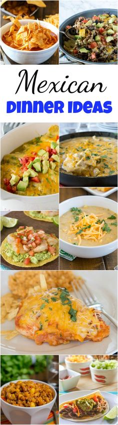 Mexican Dinner Ideas - everyone loves Mexican food!  Tacos, enchiladas, quesadillas, margaritas and more!  But sometimes you want to branch out from the norm.  Here are 25 of my favorite Mexican dinner ideas for any night of the week! #dinnerideas #dinnertime #mexicanfood #recipes