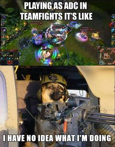 While playing adc
