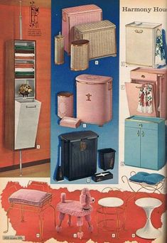 Retro Home Decor fun inspirations - retro plan ref 6024917620 - A nice retro collection ways to plan a lovely yet exciting decor. The impressive retro home decor ideas bathroom Ideas pinned on this day 20181228 Vintage Room, Vintage Kitchen, Vintage Decor, Retro Vintage, Vintage Stuff, Vintage Barbie, Mid Century Bathroom, Deco Retro, Vintage Bathrooms