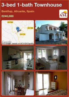 3-bed 1-bath Townhouse in Benillup, Alicante, Spain ►€240,000 #PropertyForSaleInSpain