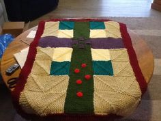 Afghan with cross no sewing as promised