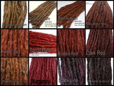 Color Reference Chart for Iconic Locks Dreadlock extensions dreadlocks dreads dread extensions synthetic dreads. Sleek Hairstyles, Dreadlock Hairstyles, Trending Hairstyles, Braided Hairstyles, Girl Hair Colors, Hair Dye Colors, Natural Hair Tips, Natural Hair Styles, Long Hair Styles