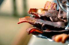 Chocolate-dipped Bacon  I can't wait to try this recipe!