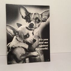 Vintage 1970s Black and White Print  It's You by MyVintagePoint