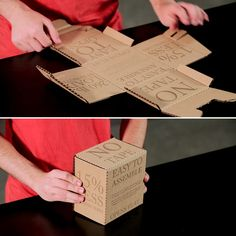 Cooper Union Students Re-Think the Cardboard Box with Their Rapid Packing Container Corrugated Carton, Corrugated Box, Packaging Design, Branding Design, Packaging Ideas, Industrial Packaging, Carton Design, Moving Boxes, Diy Cardboard