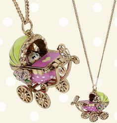 Betsy Johnson baby carriage necklace. I want this so bad, and I don't even wear jewelry.