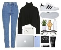 """""""Like To Be On My TagList :)"""" by jo-ellehadi ❤ liked on Polyvore featuring Topshop, adidas, NARS Cosmetics, Chapstick, Lux-Art Silks and Versace"""