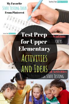 Activities and Ideas to Prepare for Standardized Testing Upper Elementary Resources, Elementary School Counseling, Elementary Teacher, Elementary Schools, Leadership Activities, Physical Education Games, Science Activities, Group Activities, Teaching 6th Grade