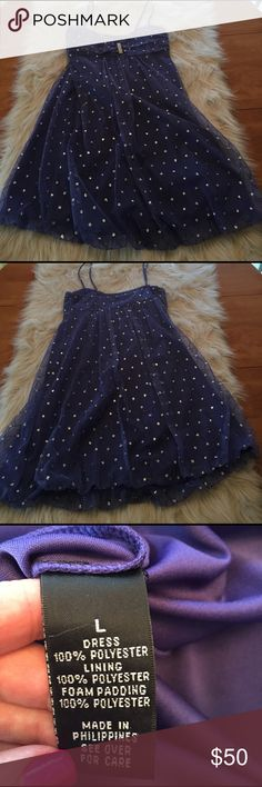 Adorable A Byer party dress Super cute periwinkle blue party dress. A Byer. Size Large. Worn once-in excellent condition with no missing beads or flaws. A Byer Dresses Prom