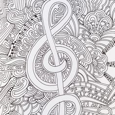 A Musical Page From Color Me Happy Part Of The Zen Coloring Book Range By